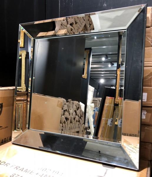 Genialer Wandspiegel 50 x 50cm Spiegelrahmen von Colmore Spiegel Glasrahmen
