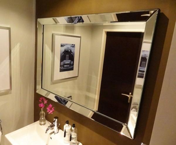 Wandspiegel Spiegel Spiegelrahmen 110x80cm von Colmore Glasrahmen