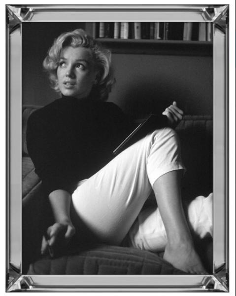 Bild Spiegelrahmen Marilyn Monroe 90x70cm Relaxing Colmore Wandbild Spiegel