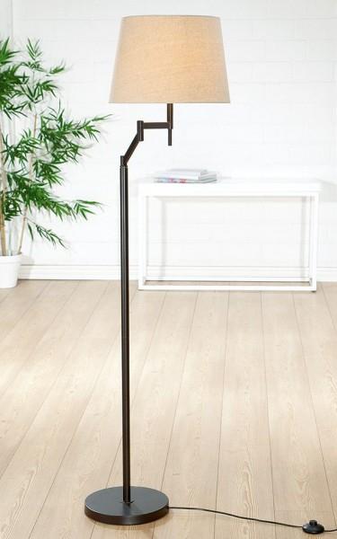 Stehlampe Elastico 159cm Casablanca Gilde Braun Beige Lampe Stehleuchte