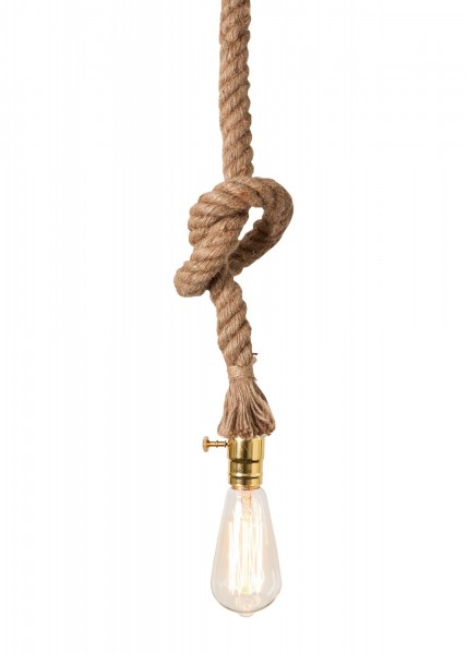 Hängelampe Seil incl. Leuchtmittel 150cm E27 60 Watt Lampe Deckenlampe Tau