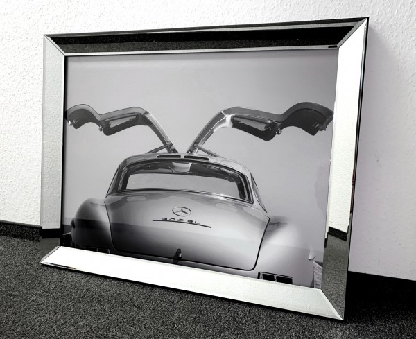 Edles Bild Spiegelrahmen Mercedes Benz SL Colmore 90x70cm Spiegel Gemälde Rahmen Wandbild