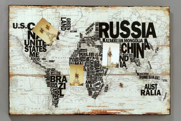 Magnettafel Welt 120 x 80 cm mit Magneten Flugzeug Weltkarte Memotafel Neu OVP
