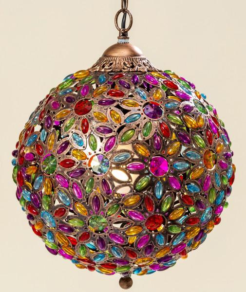 Deckenlampe Pinza 32x38cm bunt Orient Lampe Kristall Kristallleuchter