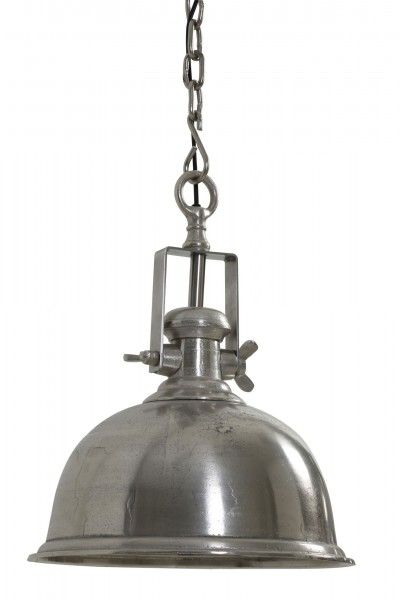 Edle Deckenlampe Kennedy Silber Nickel 40cm Industry Industrie Industrielampe