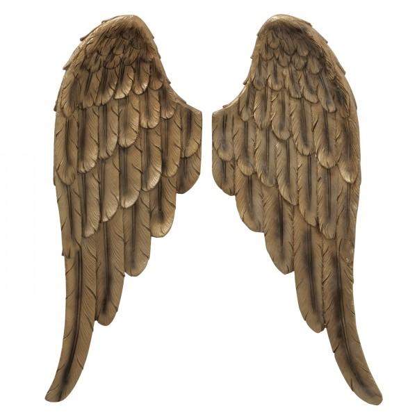 Wanddeko Engelsflügel 2 Stück Antik Gold 41cm Flügel Engel Dekoration