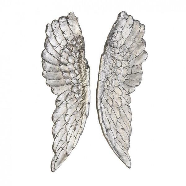 Casablanca Engelsflügel Wings Silber 100x36cm Flügel Engel Dekoration Wanddeko