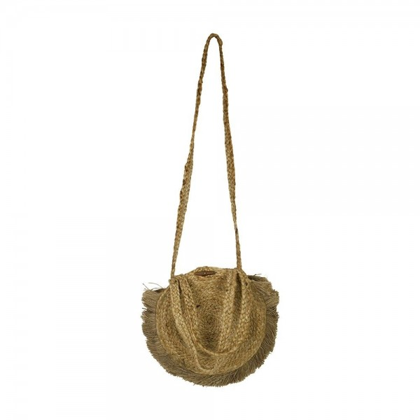 Geniale Tasche Handtasche Strandtasche Jute Natur Oval Schultertasche Crossbody