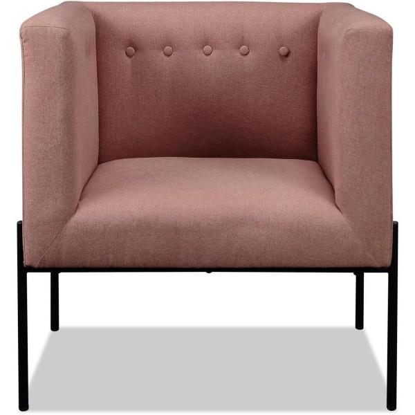 Design Sessel Rose Stoff Clubsessel Rosa Loungesessel Stuhl
