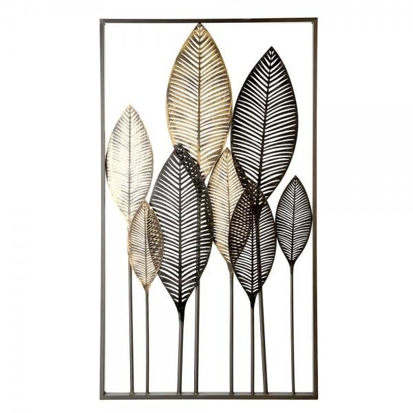Wand Dekoration Palmbätter 95cm Casablanca Eisen Wanddeko Blatt Pflanze Bild