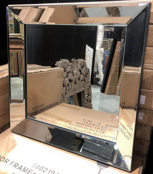 Wandspiegel Spiegel Spiegelrahmen quadratisch 50cm Colmore Spiegel Glasrahmen