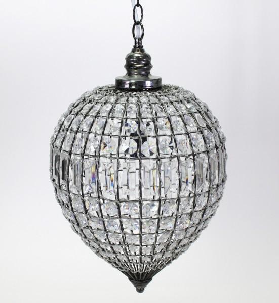Deckenlampe Orient 30x48cm Lampe Kristall Kristallleuchter Tropfen klar rund