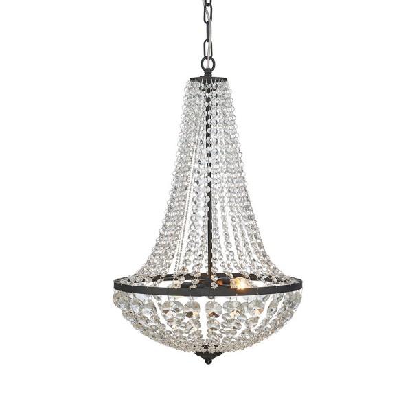 Edler XL Kronleuchter Kristall Hängelampe Korblüster Deckenlampe