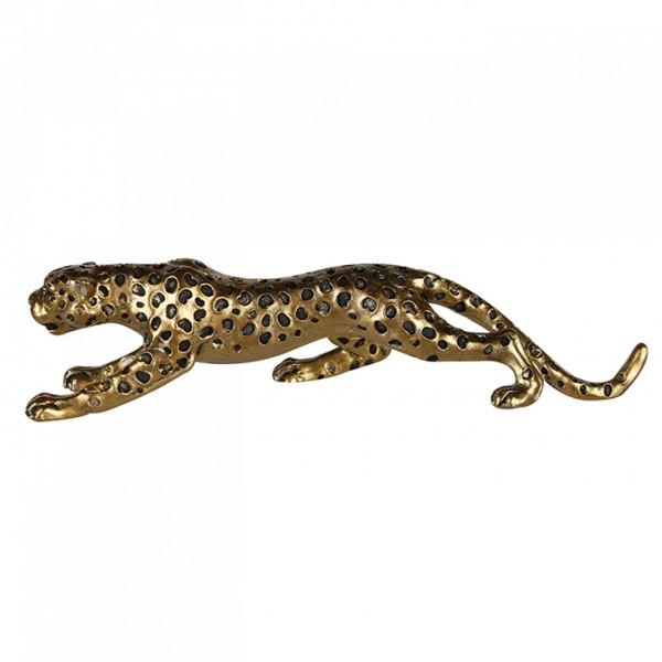 Gepard Modell 25cm Gold Casablanca Poly Leopard Tiger Panther Dekoration