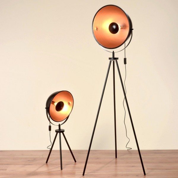 Geniale Studiolampe 77 cm Höhe Teleskoplampe Fotolampe Design Teleskop Stehlampe