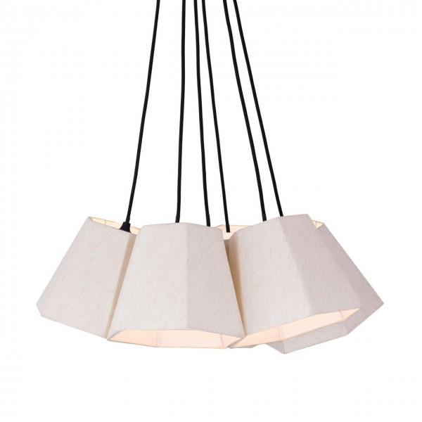 Deckenlampe 5 Schirme Weiss Voglrieder Hängelampe Hängeleuchte