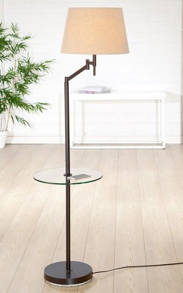 Stehlampe Elastico 160cm Tisch Casablanca Gilde Braun Beige Lampe Stehleuchte