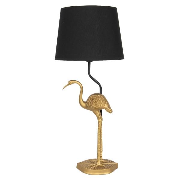 Tischlampe Lampe Flamingo Gold Schwarz 58cm Vogel Tischleuchte