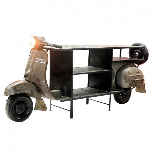 Geniale Roller Bar Casablanca 260cm Metall Regal Sideboard Vespa Motorrad