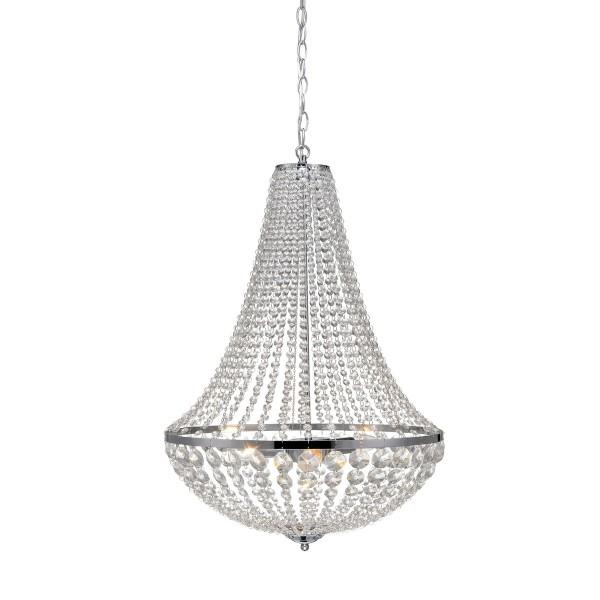 XL Kronleuchter Kristall Chrom Hängelampe Korbleuchter Deckenlampe
