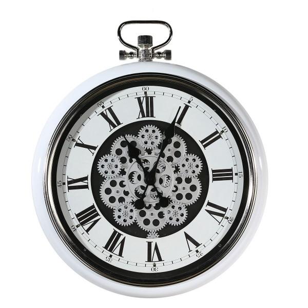 Wanduhr Glas Zahnräder Oirgin Casablanca 62cm Eisen Metall Uhrwerk Uhr