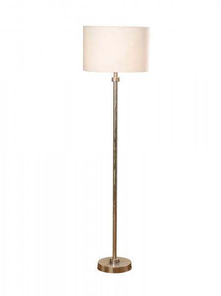 Edle minimalistische Stehlampe Aluminium 175cm Schirm weiß Lampe
