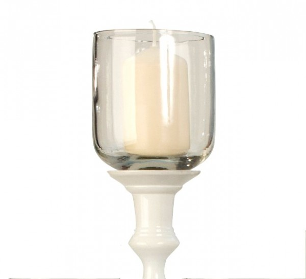 XXL Teelichtaufsatz für Kerzenleuchter 10cm Glas Windlichtaufsatz Teelichthalter