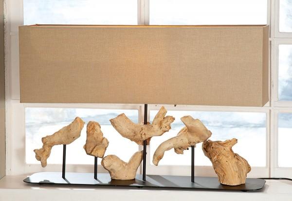 Tischlampe Driftwood 80cm Casablanca Gilde Braun Beige Stehlampe Lampe