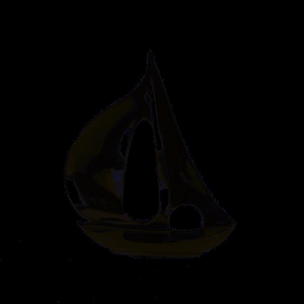 Edles Segelboot Modell 35cm Casablanca Nickel Silber Aluminium Boot