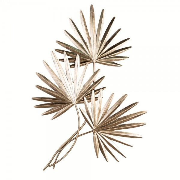 Wand Dekoration Palmbätter 92cm Casablanca Eisen Wanddeko Blatt Pflanze Bild