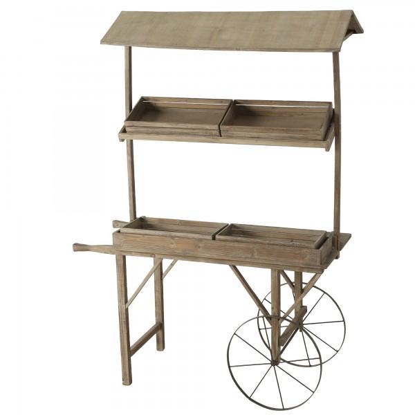 Geniales Regal Kommode Stand Marktstand H200cm Holz Sideboard Schubkarre Karre Handkarre