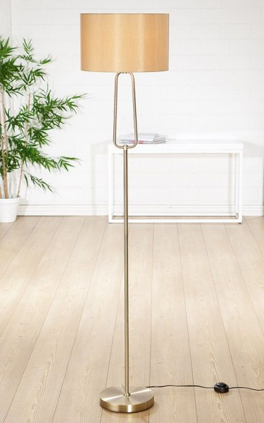 Stehlampe Antico 160cm Casablanca Gilde Gold Beige Lampe Stehleuchte