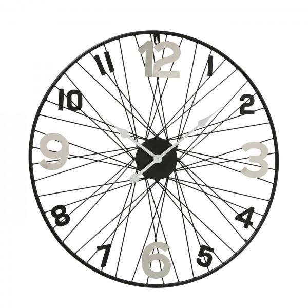 Geniale Wanduhr Spike 70cm Eisen Felge Fahrrad Fahrradfelge Reifen Uhr