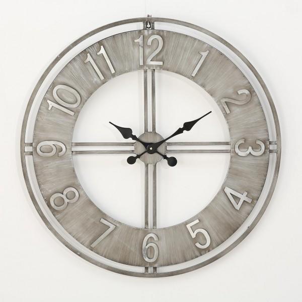 Wanduhr Uhr Hudson D78cm Eisen Metall Crafted Look Puristisch