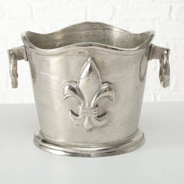 Sektkühler Weinkühler L36cm Silber Ornament Flaschenkühler Getränkekühler Aluminium