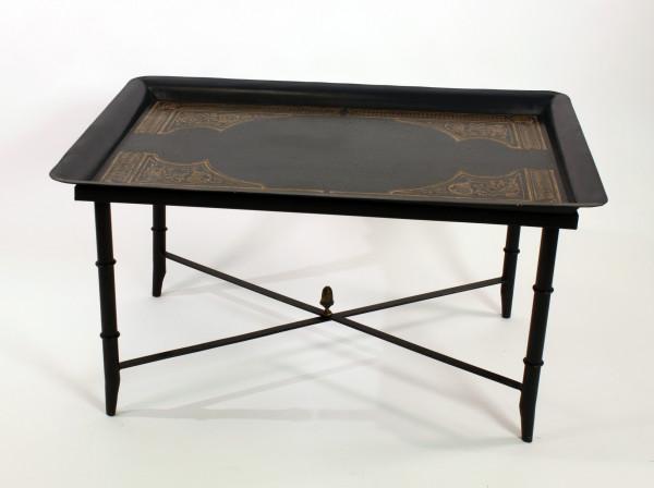 Teetisch Orient 98cm Schwarz Beistelltisch Tisch Couchtisch
