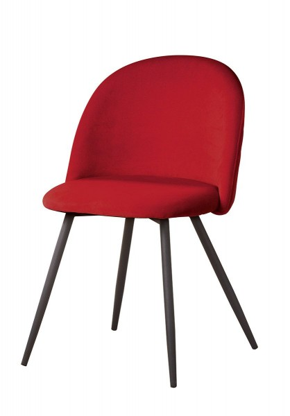 Stuhl Samt Rot Meran Casablanca Gilde gesteppt Samtoptik Wohnzimmerstuhl