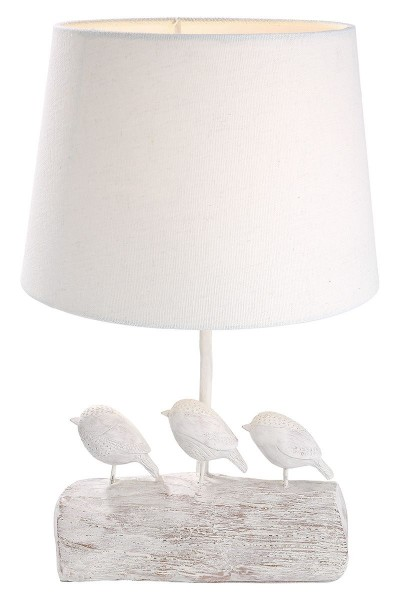 Tischlampe Vögel Woody Casablanca Gilde Weiss Vogel Tischleuchte Lampe