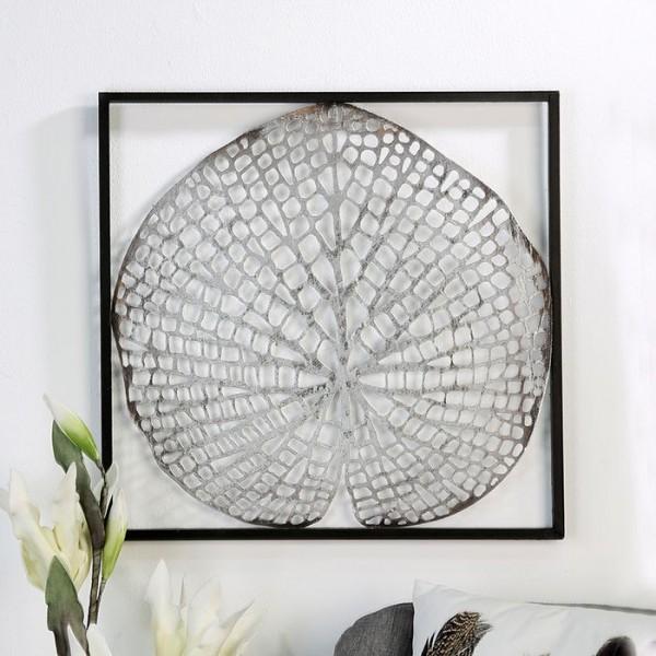 Wand Dekoration Leaf Casablanca Eisen Wanddeko Blatt Pflanze Bild