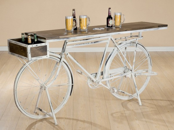 Genialer Fahrrad Tisch Casablanca 182cm Metall Regal Sideboard Bar Bike