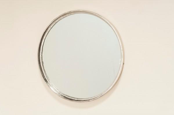 Wandspiegel D59cm Molda Aluminium Silber Rund Minimalistisch Design