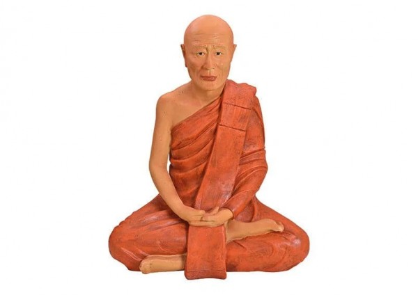Sonderpreis XXL Mönch 100cm Rot Braun Figur Modell Buddha Buddhafigur