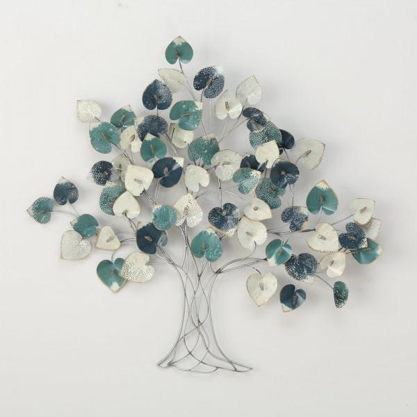 Edler XXL Wand Dekoration Baum Arania 118cm Bunt Eisen Wanddeko Baumdekoration