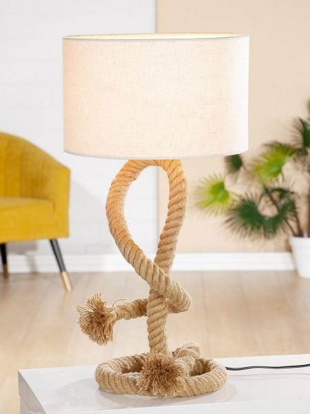 Tischlampe Seil Tau 65cm Casablanca Braun Lampe Tischleuchte