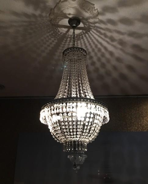 2x edler Kronleuchter Kristall 75cm 3-flammig Hängelampe Korbleuchter Deckenlampe